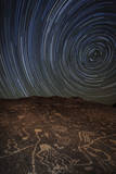 Star Trails at an Ancient Petroglyph Site Near Bishop, California Photographic Print