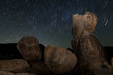 Huge Granite Boulders under Starry Skies, California Photographic Print