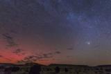 A Rare Aurora Display over Black Mesa, Okalahoma, Usa Photographic Print