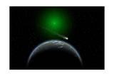 A Comet Passing a Distant Alien World Prints