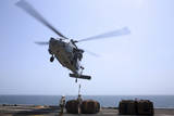 Marines Hook Cargo to an Mh-60S Sea Hawk Helicopter Photographic Print