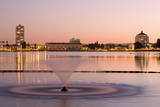 Fountain in Lake Merritt, Oakland, California, United States of America, North America Photographic Print by Richard Cummins