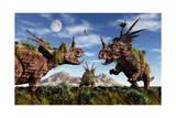 Styracosaurus Dinosaur Sculptures Prints