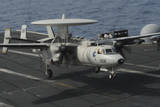 An E-2C Hawkeye Lands Aboard the Aircraft Carrier USS Nimitz Photographic Print
