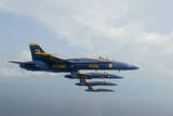 F-A-18 Hornets from the U.S. Navy Blue Angels Team Photographic Print