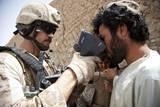 U.S. Marine Scans an Afghan Man's Retinas Photographic Print