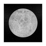 Artists Concept of a Full Moon in the Universe at Night Prints