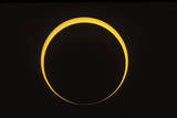 Annular Eclipse Showing Reverse Baily's Beads Effect Photographic Print