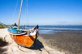 Colorful Boats on the Beach, Torreira, Aveiro, Beira, Portugal, Europe Photographic Print by G and M Therin-Weise