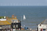 Sailing Dinghy Passes Broadstairs Photographic Print by Charles Bowman