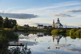 Abandonded Church Reflecting in the Kamenka River Photographic Print by Michael Runkel