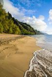 Kee Beach on the Napali Coast, Kauai, Hawaii, United States of America, Pacific Fotografisk trykk av Michael Runkel