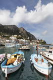 Traditional Fishing Boats in Marina Grande in Capri, Campania, Italy, Mediterranean, Europe Photographic Print by Martin Child