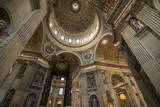 Interior of St. Peter's Basilica, the Vatican City, Vatican, Rome, Lazio, Italy, Europe Photographic Print by Ben Pipe