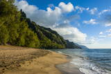 Kee Beach on the Napali Coast, Kauai, Hawaii, United States of America, Pacific Photographic Print by Michael Runkel