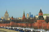 The Kremlin Wall and the Business Center, Moscow, Russia, Europe Photographic Print by Bruno Morandi