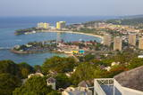 Elevated View over City and Coastline, Ocho Rios, Jamaica, West Indies, Caribbean, Central America Photographic Print by Doug Pearson