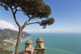 The Twin Domes of San Pantaleone Church from Villa Rofolo in Ravello Photographic Print by Martin Child
