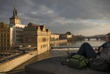 View over Vltava River, Prague, Czech Republic, Europe Photographic Print by Ben Pipe