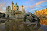 St. Charles Church, Vienna, Austria, Europe Photographic Print by Neil Farrin