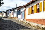 Colourful Streets, Mariana, Minas Gerais, Brazil, South America Photographic Print by Gabrielle and Michel Therin-Weise