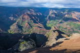 View over the Waimea Canyon, Kauai, Hawaii, United States of America, Pacific Photographic Print by Michael Runkel
