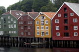 Wooden Houses, Trondheim, Norway, Europe Photographic Print by Olivier Goujon