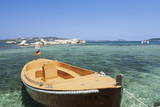 Boat at the Beach, Palau, Sardinia, Italy, Mediterranean, Europe Photographic Print by Markus Lange