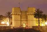 Torres De Serranos City Gate at Dusk, Valencia, Comunidad Valencia, Spain, Europe Photographic Print by Markus Lange