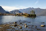 View over Isola Superiore (Isola Dei Pescatori) from Isola Bella Photographic Print by Yadid Levy