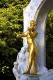 Statue of Johann Strauss, Stadtpark, Vienna, Austria, Central Europe Photographic Print by Neil Farrin