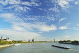 River Rhine, Cologne, North Rhine-Westphalia, Germany, Europe Photographic Print by Jochen Schlenker