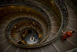 Steps at the Vatican Museum, the Vatican City, Vatican, Rome, Lazio, Italy, Europe Photographic Print by Ben Pipe
