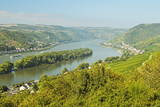 Rhine River, Near Bodenthal, Hesse, Germany, Europe Photographic Print by Jochen Schlenker
