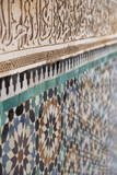 Traditional Moroccan Zallij Tile Work in the Ben Youssef Medersa Photographic Print by Martin Child