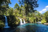 Ojos Del Calburga Waterfalls Near Pucon, Southern Chile, South America Photographic Print by Michael Runkel
