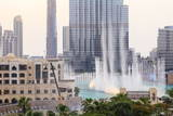 Dubai Fountain and Burj Khalifa, Downtown, Dubai, United Arab Emirates, Middle East Photographic Print by Amanda Hall