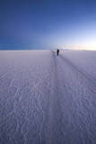 Lone Person in Distance Walks Papier Photo par Kim Walker
