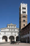 Horse Drawn Carriage Crossing the Piazza San Martino, Lucca, Tuscany, Italy, Europe Photographic Print by James Emmerson