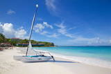 Long Bay and Beach and Hobie Cat, Antigua, Leeward Islands, West Indies, Caribbean, Central America Photographic Print by Frank Fell