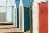 Beach Huts Detail, Abersoch, Llyn Peninsula, Gwynedd, Wales, United Kingdom, Europe Photographic Print by Alan Copson