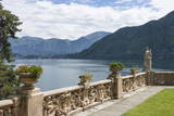 View from a Terrace, Villa Barbonella, Lake Como, Italian Lakes, Lombardy, Italy, Europe Photographic Print by James Emmerson