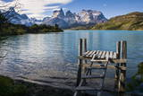Little Pier on Lake Pehoe in the Torres Del Paine National Park, Patagonia, Chile, South America Photographic Print by Michael Runkel