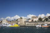 Port and Town Wall, Alghero, Province Sassari, Sardinia, Italy, Mediterranean, Europe Photographic Print by Markus Lange