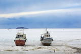 Frozen Harbour of Khoujir Photographic Print by Bruno Morandi