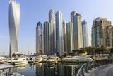 Cayan Tower, Dubai Marina, Dubai, United Arab Emirates, Middle East Photographic Print by Amanda Hall