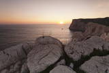 Capo Caccia at Sunset, Province Nurra, Sardinia, Italy, Mediterranean, Europe Photographic Print by Markus Lange