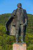 Lenin Statue in Petropavlovsk-Kamchatsky, Kamchatka, Russia, Eurasia Photographic Print by Michael Runkel
