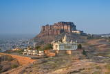 Jaswant Thada and Meherangarh Fort, Jodhpur (The Blue City), Rajasthan, India, Asia Photographic Print by Doug Pearson