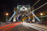 Long Exposure of Traffic over Tower Bridge at Dusk, London, England, United Kingdom, Europe Photographic Print by Charlie Harding